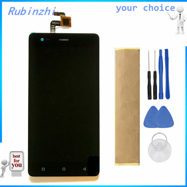RUBINZHI Com Fita Ferramentas Display LCD Do Telefone Móvel Para Tele2 Maxi Plus Screen Display LCD Com a Montagem da Tela de Toque
