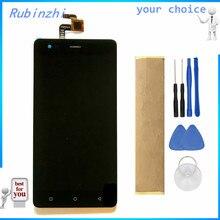 RUBINZHI עם קלטת כלים טלפון נייד LCD תצוגה עבור Tele2 מקסי בתוספת LCD תצוגת מסך עם מסך מגע עצרת
