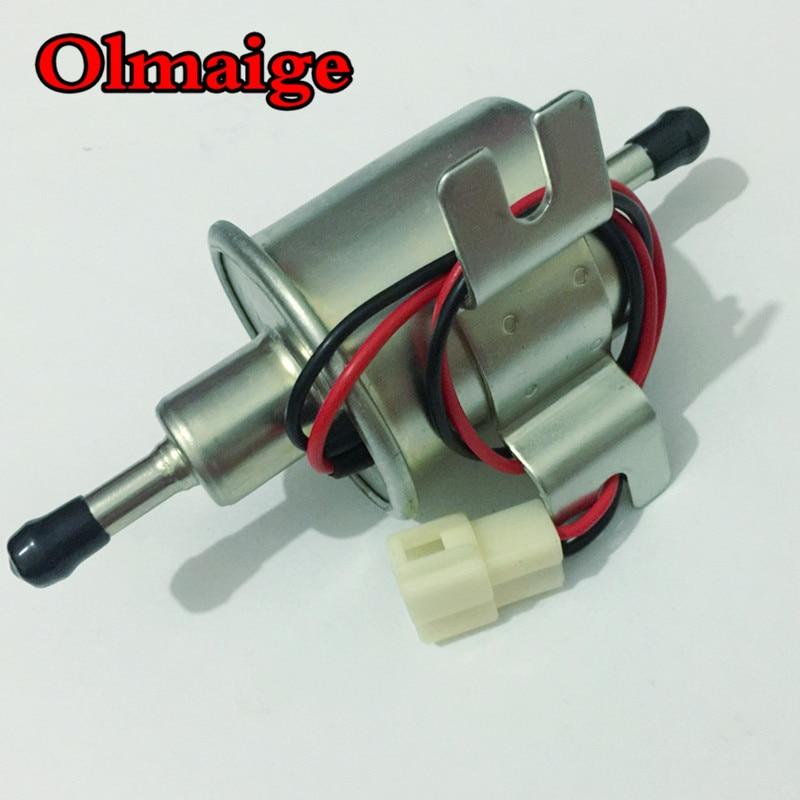 HEP-02A univerzális dízel-benzin-benzines elektromos üzemanyag-szivattyú, 12 V alacsony nyomású, porlasztóhoz, motorkerékpárhoz, ATV-hez