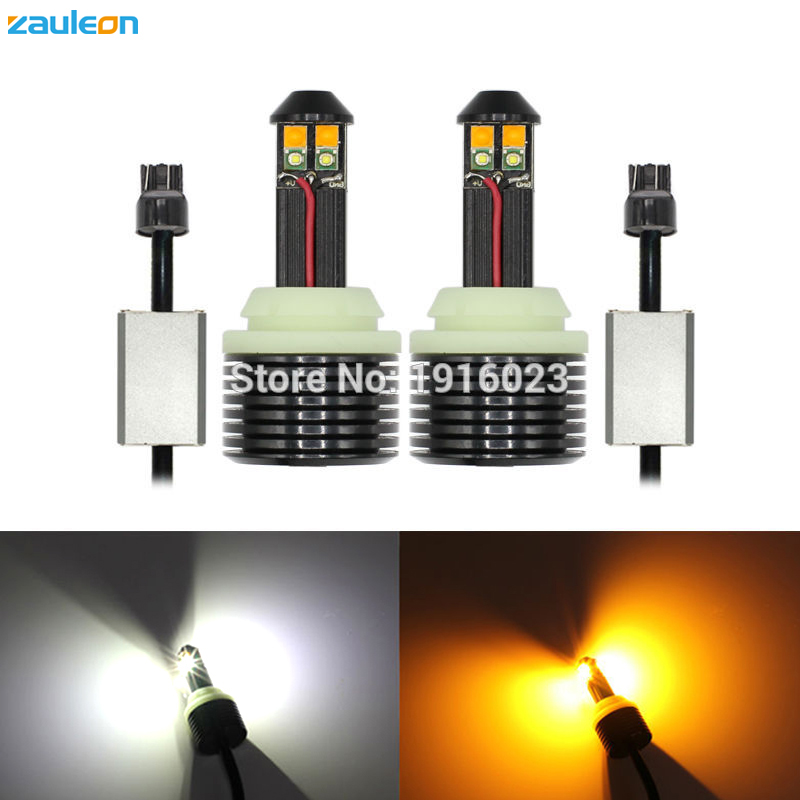 2PCS T20 7443 W3X16D W21/5W Canbus Error Free LED Switchback White Yellow Dual color for Car DRL Turn Signal Light car-styling carprie super drop ship new 2 x canbus error free white t10 5 smd 5050 w5w 194 16 interior led bulbs mar713