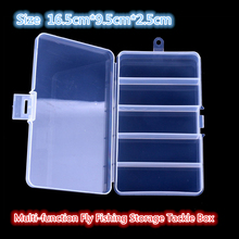 Fishing tackle Durable fishing tackle boxes small clear plastic waterproof hooks lures small bait  box fishing accessories