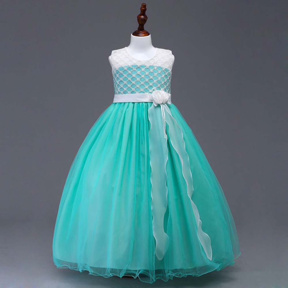 dresses   for kids A beauty pageant   dress   vestido de daminha   girls   pageant lace Communion   Flower     Girl     Dresses
