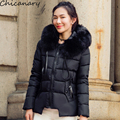 2016 Winter New With Thick Fake Fur Collar Women's Down Cotton Jacket Thicken Short Paragraph Coat Winter Coat Women Plus Size
