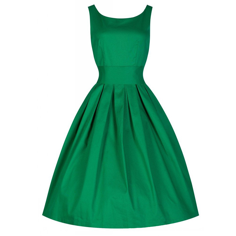 ⃝Summer Dress Vintage Rockabilly Retro Swing 1950s 60s Pinup Prom ...