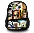 "Many Dogs 15"" Canvas Computer Tablet Backpack School Travel Shoulder Bag Gifts for Women Large Capacity Free Shipping"