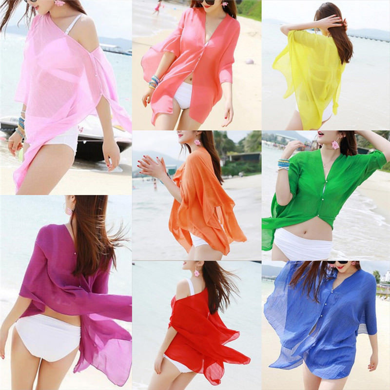 New Arrival 1 Cover Up tops & tees Women Summer Beachwear shirts Cover Up shirts Lady Shirt shirts Sexy women
