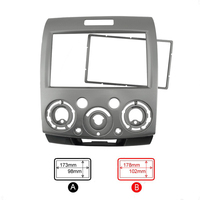 2 Din Car Radio Fascia Frame For Ford Ranger Everest 2007~2012 Auto Stereo Panel Dash Mount Trim Installation Kit Frame