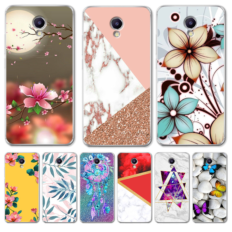 Luxury Flower marble For <font><b>Meizu</b></font> <font><b>M3S</b></font> M5 M5S M5C M6 M3 M5 M6 Note U10 U20 phone Case <font><b>Cover</b></font> Coque Etui capa funda dream catcher cute image