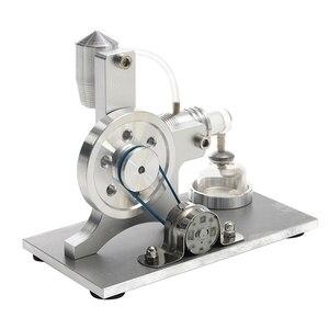 Mini Hot Air Stirling Motor Power Electricity Generator Led Alpha Engine Model Educational Physics Experiment Kit|Physics| |  -