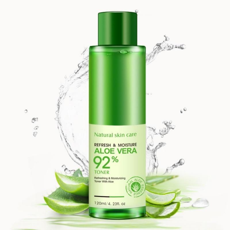 BIOAQUA Natural Face Toner Aloe Vera Gel VC Essence Skin Care Hydrating Moisturizing Vitamin C Lighten Pore Toner Korean 120ml