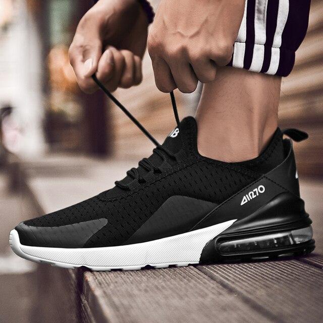 Mannen Casual Schoenen Lente Herfst Ademend Sneakers Mannen Luchtkussen Mesh Sport Schoenen Trend Trainers Schoenen Big Size