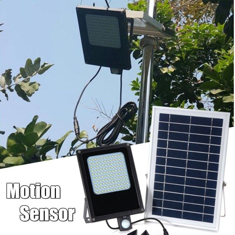 Smuxi LED Solar Powered Motion Sensor Flood Lights Waterproof IP65 150 LED 3528 SMD Security Emergency White Light 15W brelong 15w smd 3528 led panel light