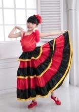 Belly Dance Skirt 540 Degree Children Spanish Flamenco Skirt  Spanish Dance Costumes for Girl Vestido Flamenco Skirt