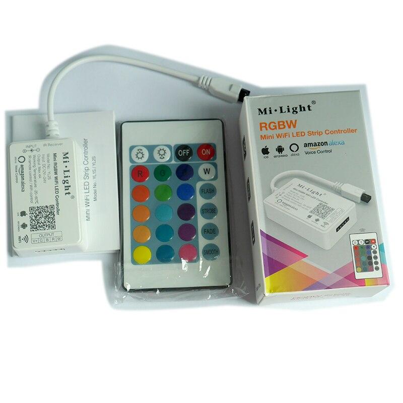Milight YL1S/YL2S Mini WiFi LED controlador de luz inteligente DC12-24V IR  Control remoto 4 grupo