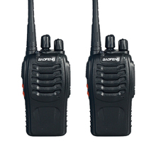 2pcs Walkie Talkie with Earpiece BaoFeng BF-888S 5W UHF Mobile Portable Radio Children's Best Two Way CB Radios Headset+ Battery