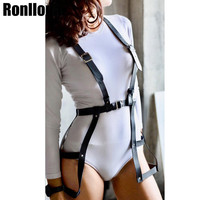 Leather Harness Dress For Women Body Bondage Cage Harness Garter Belt Sexy Lingerie Women Outfit Rave Wear Punk Goth Suspenders