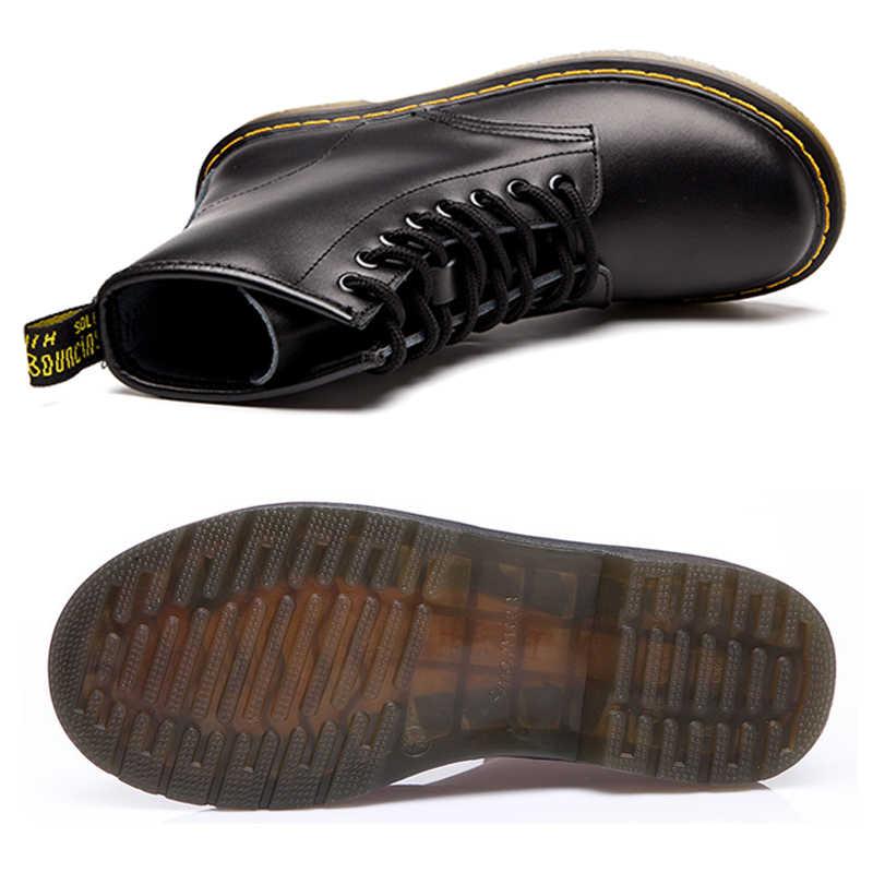 كوانزيزوان جلد طبيعي النساء الأحذية الدكتور حذاء من الجلد الشتاء العمل Safeti الأحذية الصلبة حذاء من الجلد الإناث فاسق النساء حذاء حجم 46