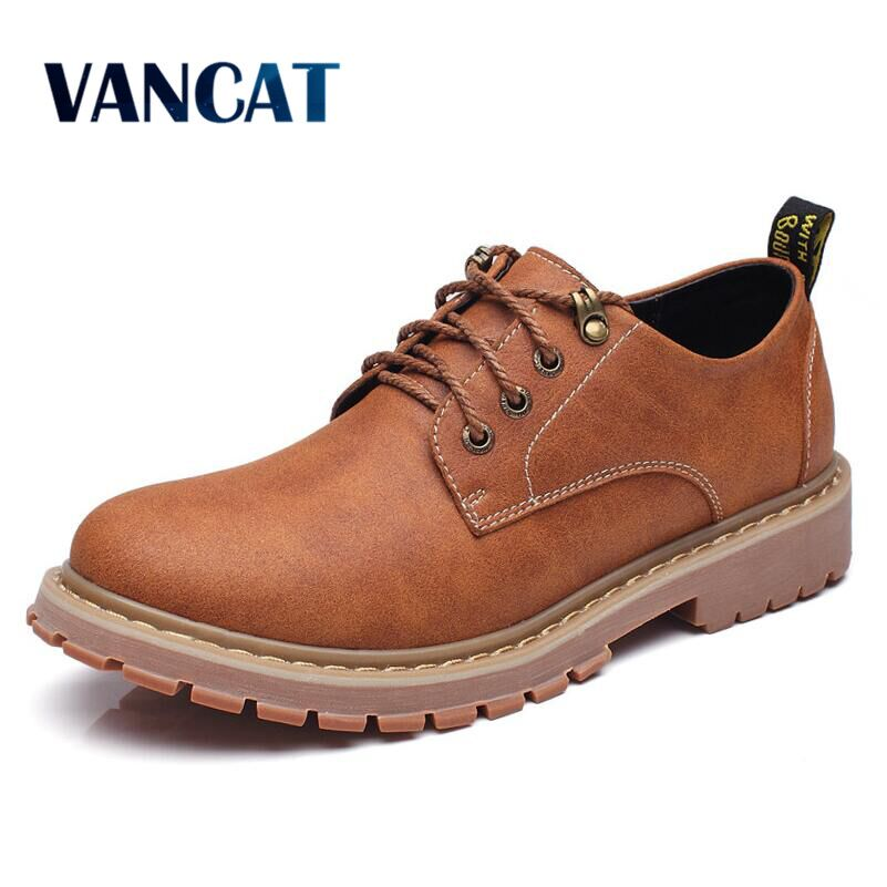VANCAT  High Quality Genuine Leather Men Shoes Autumn Winter Work & Safety Shoes Fashion Casual Men Shoes Leather Moccasins cbjsho spring winter luxury brand genuine leather casual fashion men shoes autumn high quality loafers moccasins men flats shoes