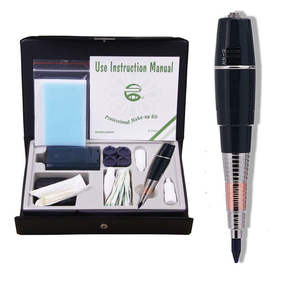 Pro Перманентный макияж татуировки ручка для бровей навсегда макияж GS Microblading комплект с иглы Чернила питание
