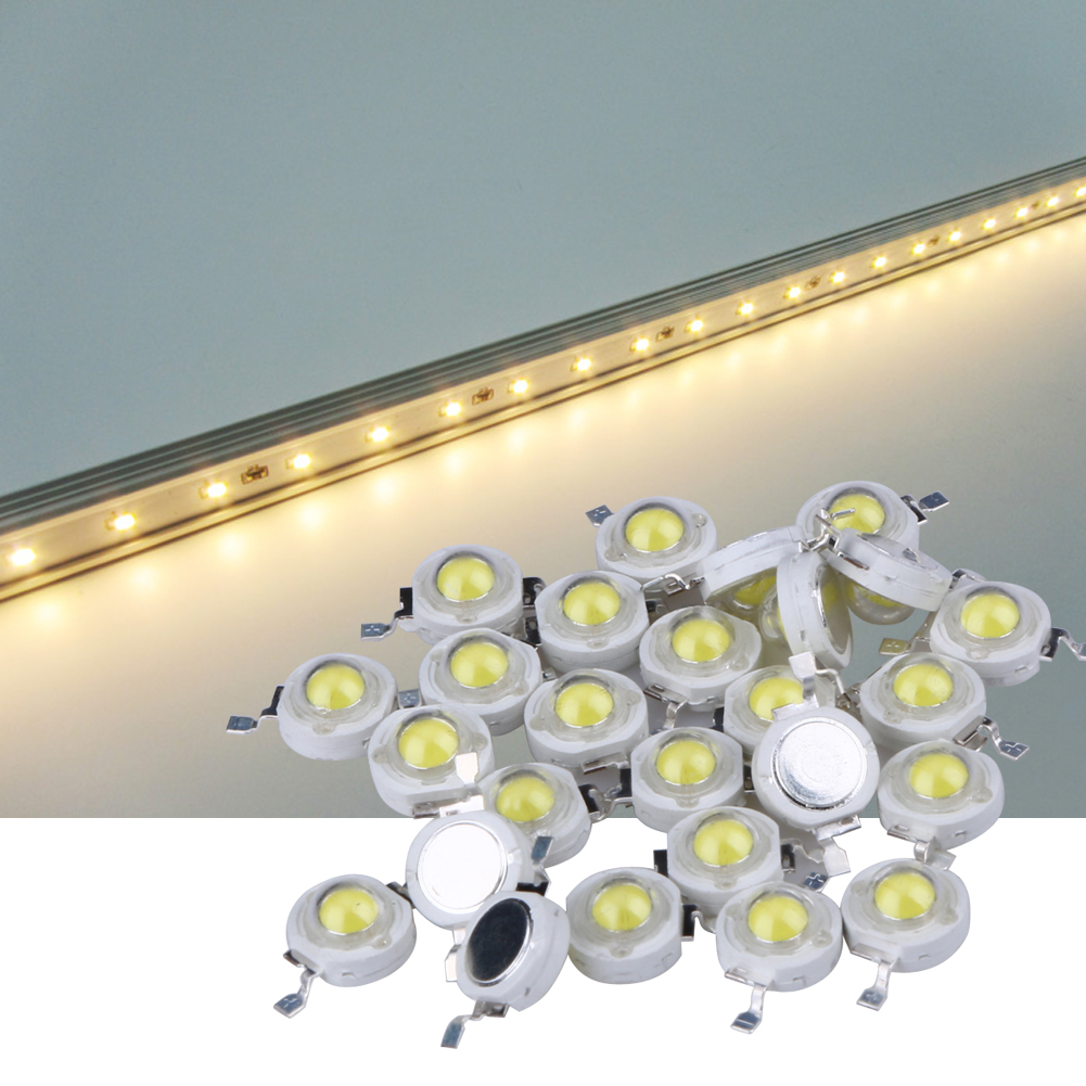 100Pcs lot Full Watt 1W High Power LED lamp Beads 110 120LM LEDs Bulb light for
