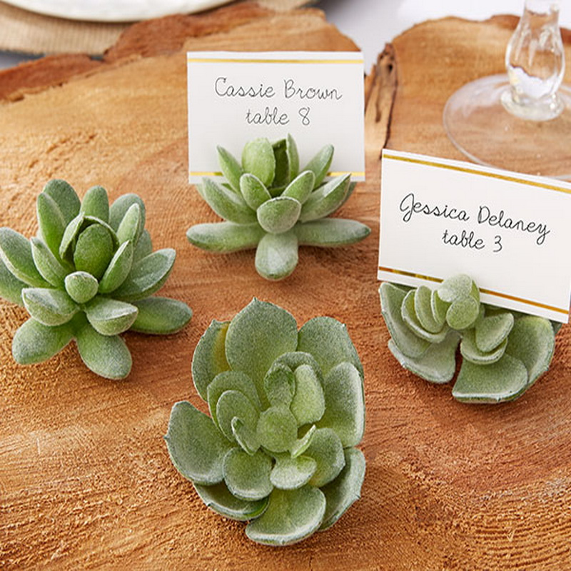 retailernatural design green succulent place card holderstable number holder weddingbridal shower favors