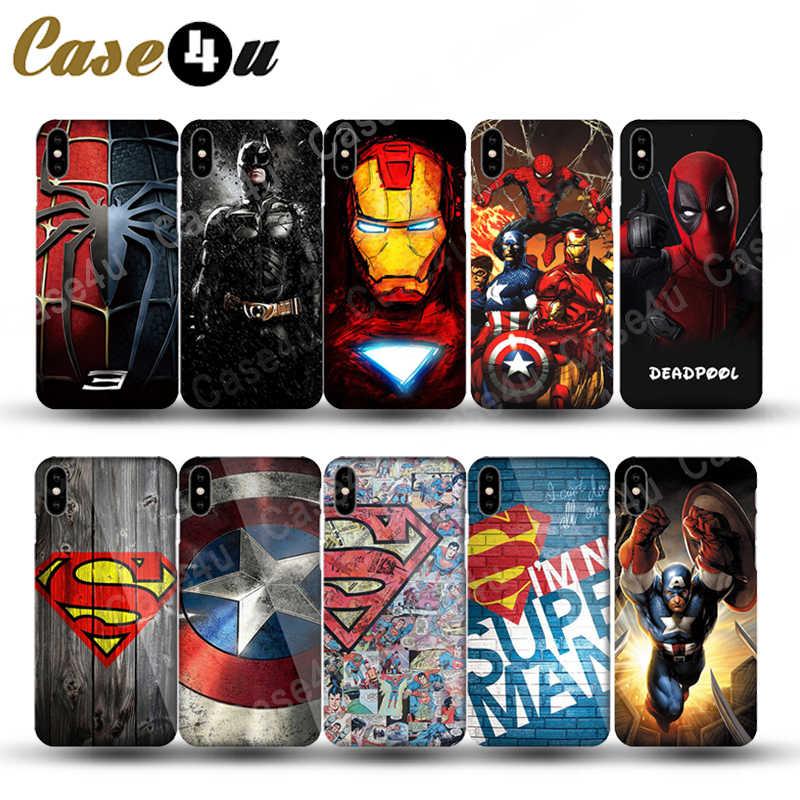 מארוול נוקמי קפטן אמריקה חומת גיבור מקרה עבור iPhone XS Max XR X 10 6 6s 7 8 בתוספת קשיח מחשב חזרה כיסוי Ironman coque