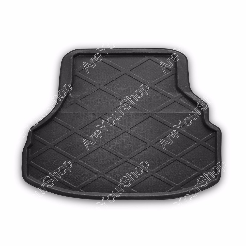 Car Auto Cargo Mat Boot liner Tray Rear Trunk Stickers For Honda Accord 2003-2007 1PCS Black New Arrival Car-Styling Stickers car rear trunk security shield cargo cover for volkswagen vw tiguan 2016 2017 2018 high qualit black beige auto accessories