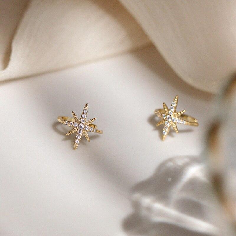 925 Sterling Silver Diamond Starburst Boucles d/'oreille