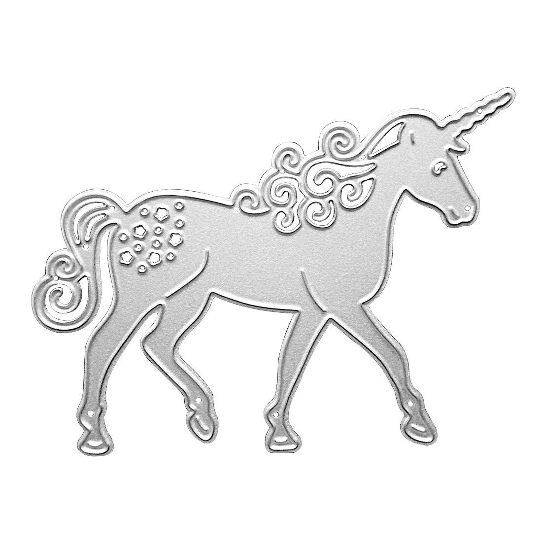 Hot Sale Unicorn Horse Metal Cutting Dies Stencil DIY Scrapbooking Card Paper Embossing Craft