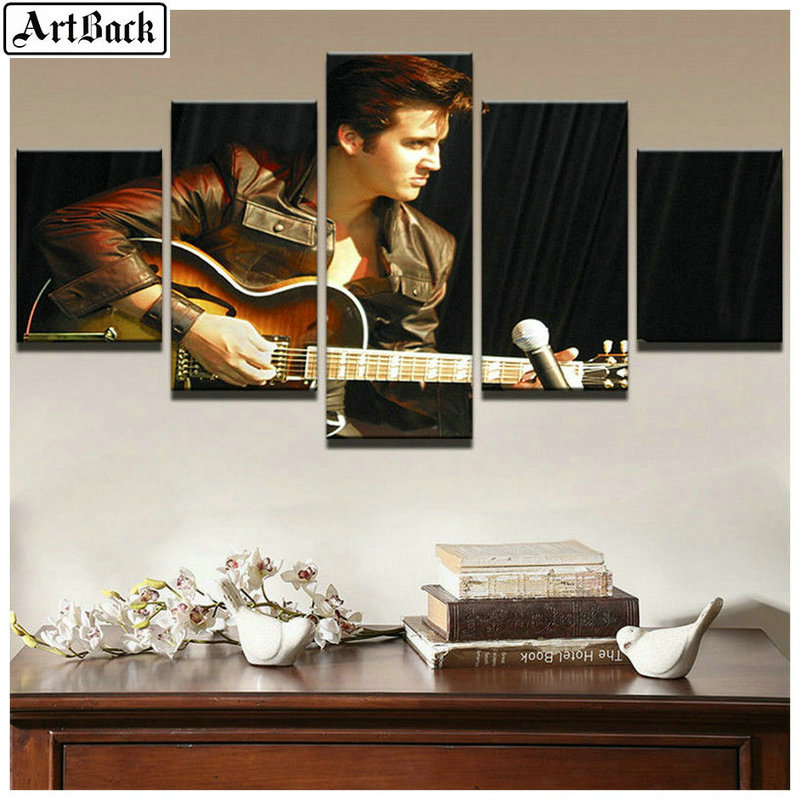 5 spell diamond painting Elvis Presley Square Trill Sewing Art Diamond Mosaic Diamond Embroidery Music Icon in Diamond Painting Cross Stitch from Home Garden