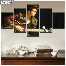 5 spell diamond painting Elvis Presley Square Trill Sewing Art Diamond Mosaic Embroidery Music Icon