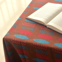 Dark brown red and blue leaf cloth upholstered fabric for pillow cover curtain tablecloth