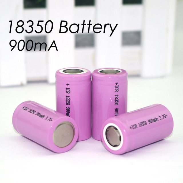 8 pcs. ICR 18350 lithium battery 900 mAh battery 3.7 V cylindrical lamp power electronic cigarette Rechargeable batteries