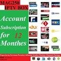 O envio gratuito de 12 Meses Mag250/Mag245 IPTV subscrição de software com a Jugoslávia/Alemão/Suécia/Albânia/Árabe 400 + canais