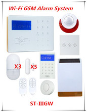 Metal Edge Glass Touch Screen Wifi GSM Alarm system Home Smart Alarm System with Power switch and Solar Strobe flash Siren