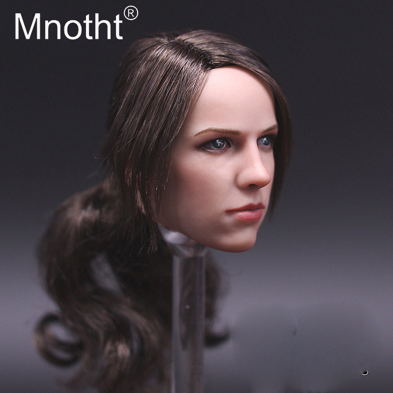 Mnotht Toys 1/6 Scale Sniper Beauty Girl Head Sculpt Model Toys Female Soldier Head Carving Toy for PH/HT Glue Body m3 1 6 scale wolverine 3 logan hugh jackman head sculpt for 12 figure hot toys male head carving soldier head model toys