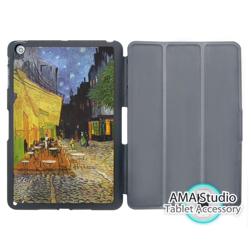 Van Gogh Cafe Terrace At Night Case For Apple iPad Mini 1 2 3 4 Air Pro 9.7 Wake UP Sleep Cover van der graaf generator van der graaf generator live in concert at metropolis studios london 2 cd dvd