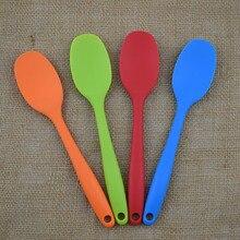 Силиконовая кухонная посуда для выпечки, ложки и совок, кухонные инструменты, посуда для приправы, кофейная ложка, детская посуда для мороженого