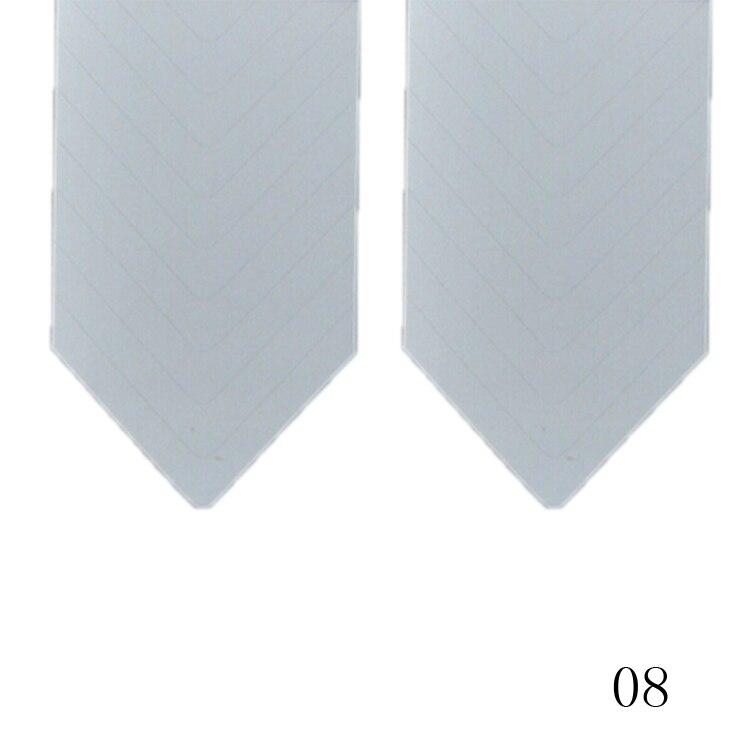 New Fashion 48PCS/Lot Nail Sticker DIY French Manicure Nail Art Decorations Round Form Fringe Guides Nail Sticker 14