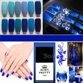 1 Bottle 10ml Born Pretty Nail Gel Blue Colors Series Gel Polish New Nail Art Gel Polish Varnish  #23590