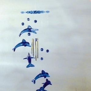 SNOWFLAKE DOLPHIN WIND CHIMES garden decor ocean #127 dolphin chime hanging new зонты dolphin dn936 dolphin зонт