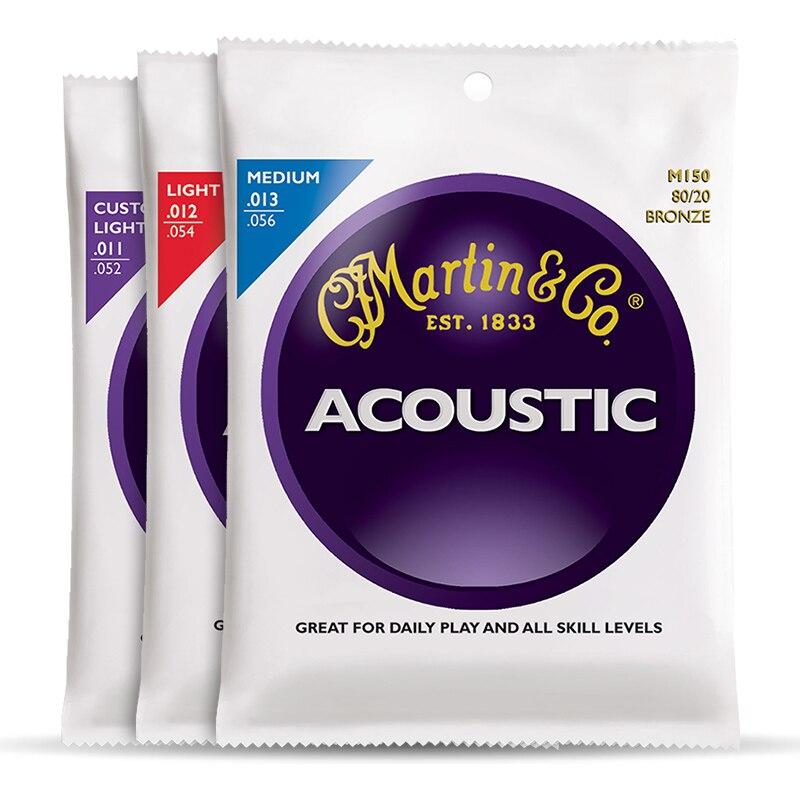 Martin M175 80/20 Bronze Custom Light Acoustic Guitar Strings, 011-052
