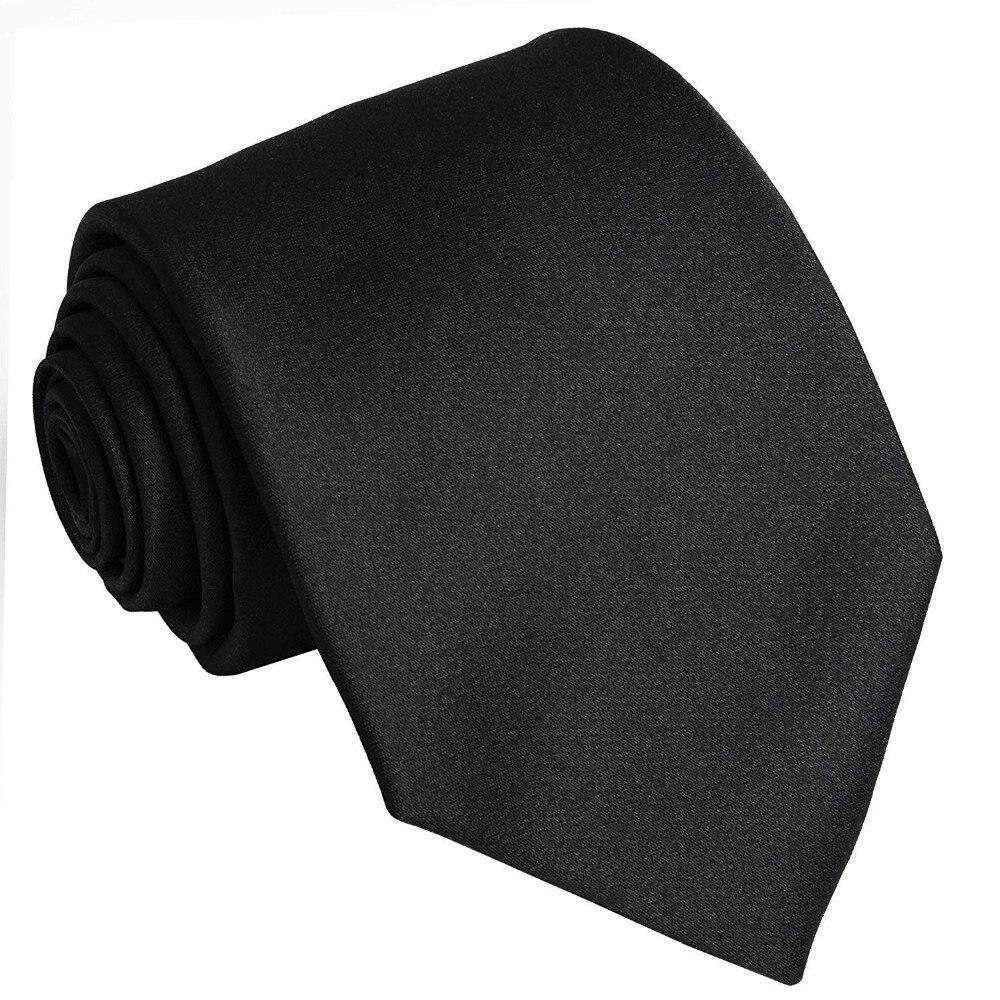 Men's Suit Ties Solid Polyester Textile Neckties Pure Color Neck Ties Formal Suit Blazer Tie Blue/Burgundy/Grey/Black