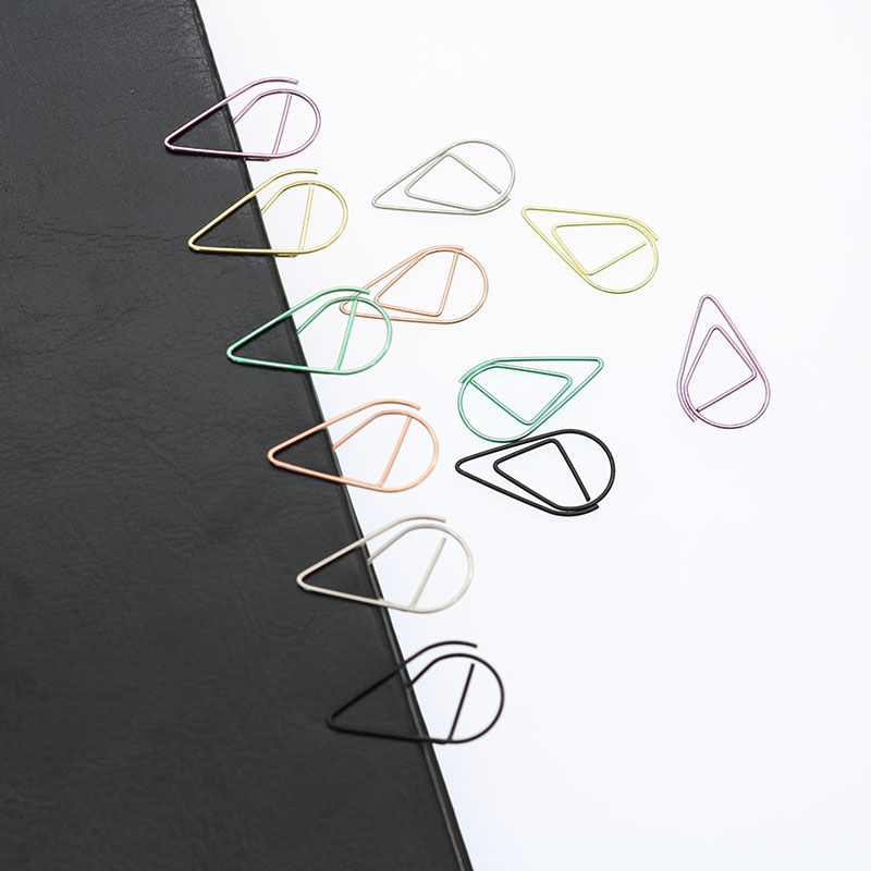 Metallic Dripping Paperclip Metallic Material Paperclip Bookmark Child Student Cute Mini Stationery Office Supplies 10pcs