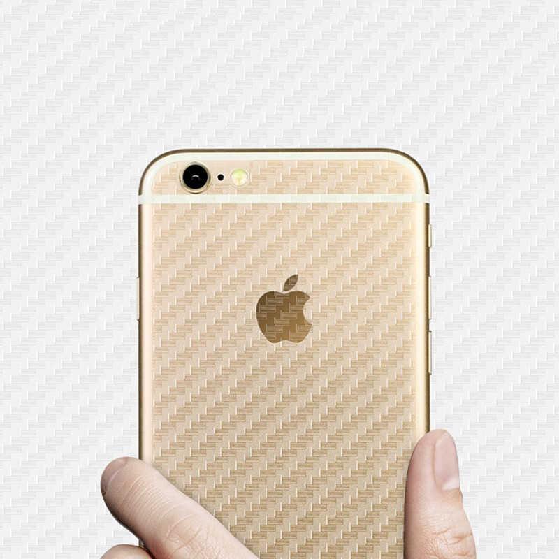 กลับคาร์บอน Fibrer ฟิล์มโทรศัพท์มือถือสติกเกอร์สำหรับ Apple iPhone 11 Pro 6 6S 7 8 PLUS 5 5 SE 2020 SE2 X XR XS MAX 4 4S 11pro ผิว