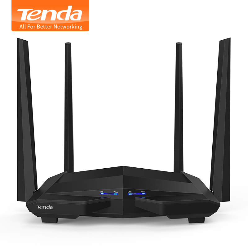 Tenda AC10 1200Mbps Wireless 2.4G+5G WiFi Router 1GHz CPU+128M DDR3 Gigabit Ports 4*5dBi High Gain Antennas, Smart APP Manage