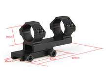 Tactical Scope Mount Fits on 20mm Rail Shooting Hunting Scope Mount For Outdoor Sport CL24-0125