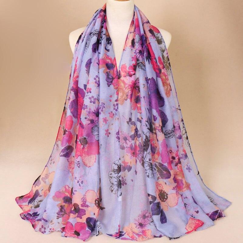 Soie verte écharpe rose fleurs luxe Fashion Classique Élégant Imprimé Cadeau Idéal