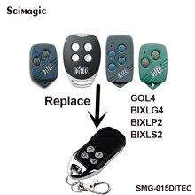 DITEC GOL4, BIXLG4, BIXLP2 & BIXLS2 garage door replacement Rolling code 433.92mhz remote control ditec gol4 bixlp2 bixls2 bixlg4 replacement remote control free shipping
