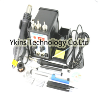 YOUYUE 8586 700W 2 In 1 Solder Rework Station Hot Air Heat Gun Soldering Iron For